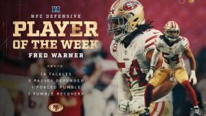Fred Warner Earns NFC Player of the Week Honors...