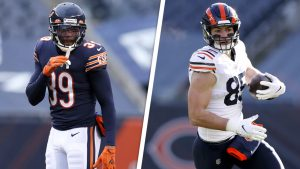 Chicago Bears players discuss matchup against...