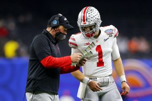 Patrick Mahomes gives love to Justin Fields for to...