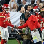 Patrick Mahomes goes to bat for Eric Bieniemy as a...