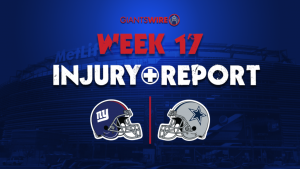 New York Giants' Eli Penny out, Golden Tate...